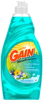 Gain® Ultra Bleach Alternative Honeyberry Hula Dishwashing Liquid 28 fl. oz. Plastic Bottle