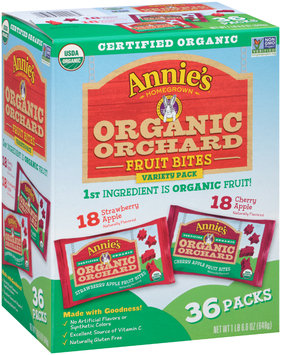Annie's Homegrown® Organic Orchard Fruit Bites Variety Pack 36 ct Box