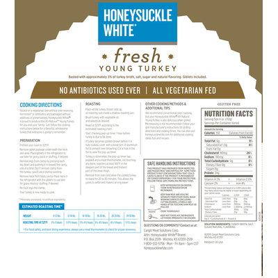 F 754 Honeysuckle White Fully Cooked AVNA Whole Turkey Netted