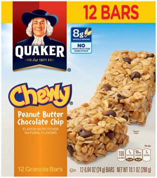 Quaker® Chewy® Peanut Butter Chocolate Chip Granola Bars 12 ct Box