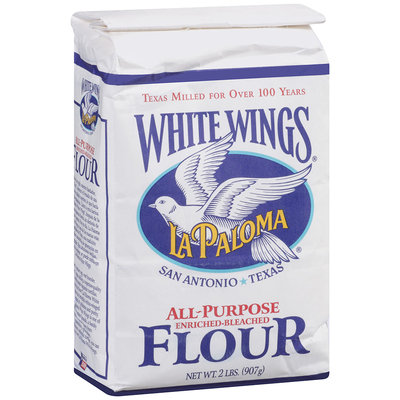 White Wings® All Purpose Enriched-Bleached Flour 2 lb. Stand Up Bag