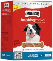 Milk-Bone Brushing Chews Daily Dental Treats - Small/Medium Value Pack, 22-Ounce - 28 Bones