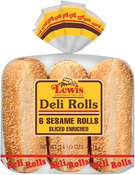 Lewis® Deli Sesame Sliced Enriched Rolls 14.5 oz. Bag