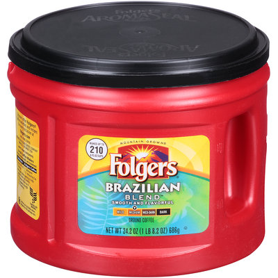 Folgers® Brazilian Blend™ Medium Ground Coffee 24.2 oz. Canister