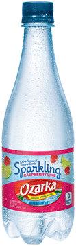 Ozarka® Sparkling Raspberry Lime Natural Spring Water