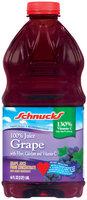 Schnucks 100% Grape Juice 64 Oz Plastic Bottle