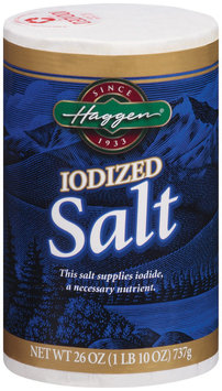 Haggen® Iodized Salt 26 Oz