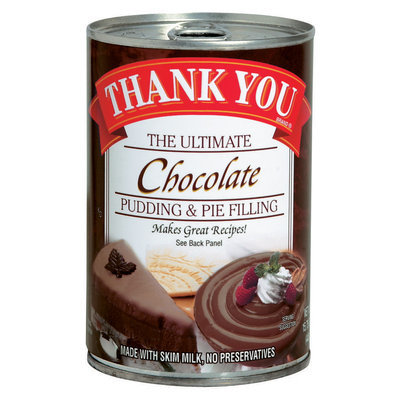 Thank You The Ultimate Chocolate Pudding & Pie Filling 15.75 Oz Can