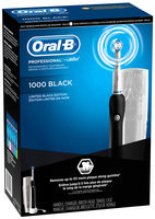 Oral-B Professional Precision Black 1000 Powered by Braun Rechargeable Electric Toothbrush with Travel Case