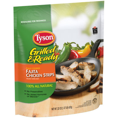 Tyson® Grilled & Ready® Fajita Chicken Strips 22 oz. Bag