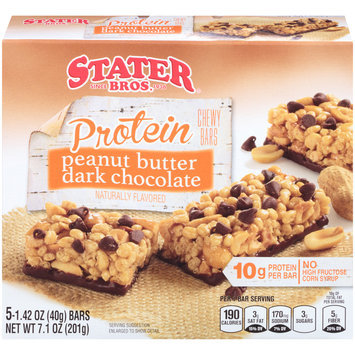 Stater Bros.® Peanut Butter Dark Chocolate Protein Chewy Granola Bars 7.1 oz. Box
