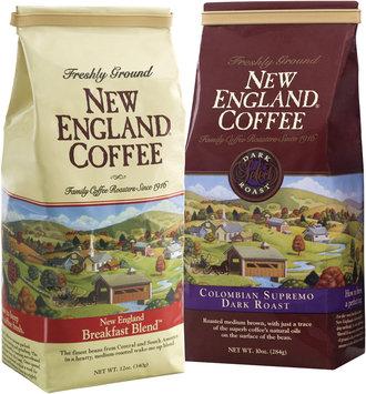 New England Coffee Breakfast Blend & Colombian Supremo Dark Roast 2 Bag Group Shoot