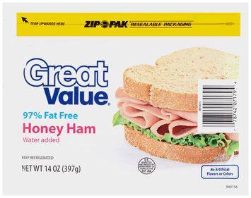 Great Value™ Honey Ham 14 oz. ZIP-PAK®