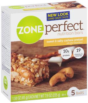 ZonePerfect® Sweet & Salty Cashew Pretzel Nutrition Bars 5-1.58 oz. Wrapper