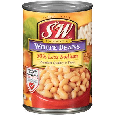 S&W® Premium 50% Less Sodium White Beans 15 oz. Can
