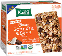 Kashi® Organic Dark Chocolate Coconut Ginger Chewy Granola & Seed Bars