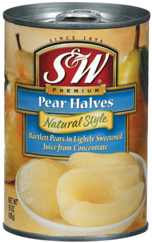 S&W® Natural Style Pear Halves 15 oz. Can
