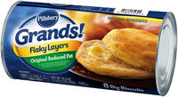 Pillsbury Grands!® Flaky Layers Original Reduced Fat Biscuits 8 ct Can