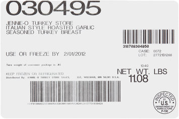 Jennie-O Turkey Store® Premium Seasoned Italian Style Roasted Garlic Turkey Breast 1 ct Package