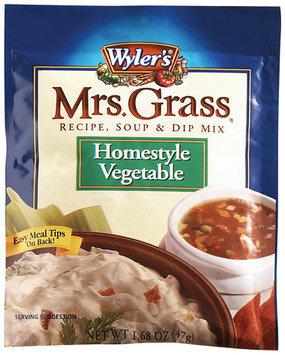 WYLER'S Homestyle Vegetable Mrs. Grass Recipe Soup & Dip Mix 1.68 OZ PEG