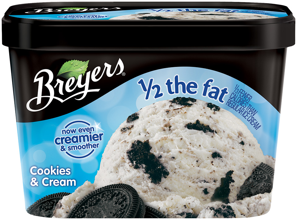 Breyers® Half The Fat Cookies & Cream