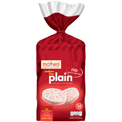 Mother's® Sodium Free Plain Brown Rice Cakes 14 ct Bag