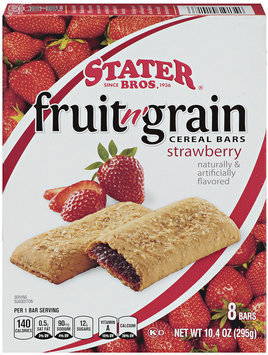 Stater Bros.® Fruit n' Grain Strawberry Cereal Bars 8 ct Box