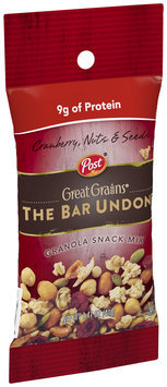Post® Great Grains® Bar Undone Cranberry, Nuts & Seeds Granola Snack Mix 1.41 oz. Pouch