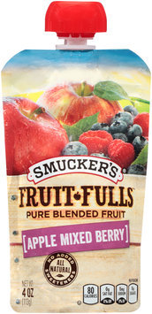 Smucker's® Fruit-Fulls™ Apple Mixed Berry Pure Blended Fruit 4 oz. Pouch