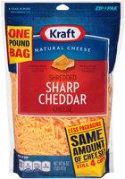 Kraft Shredded Sharp Cheddar Cheese 16 oz. ZIP-PAK®