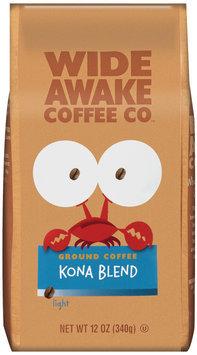 Wide Awake Coffee Company Kona Blend Light Ground Coffee 12 Oz Stand Up Bag