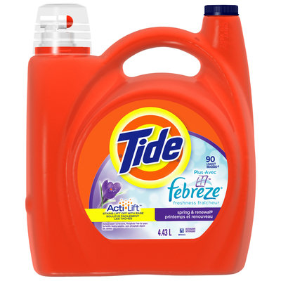 Tide with Febreze Freshness Spring and Renewal Scent Liquid Laundry Detergent 90 Loads 4.43 L