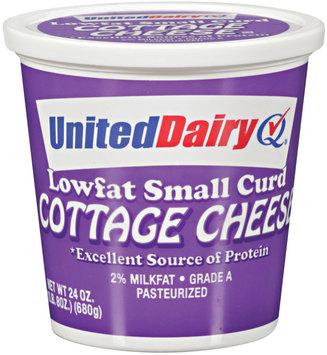 United Dairy® Lowfat Small Curd Cottage Cheese 24 oz Tub