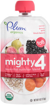 Plum® Organics Tots Mighty 4™ Carrot Guava Oats & Black Beans Essential Nutrition Blend 4 oz. Pouch