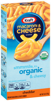 Kraft Organic Cheddar Macaroni & Cheese Dinner 6 oz. Box