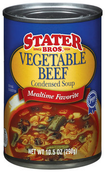 Stater Bros. Vegetable Beef Condensed Soup 10.5 Oz Can
