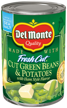 Del Monte Garden Quality™ Blue Lake Cut Green Beans & Potatoes with Ham Style Flavor 14.5 oz. Can