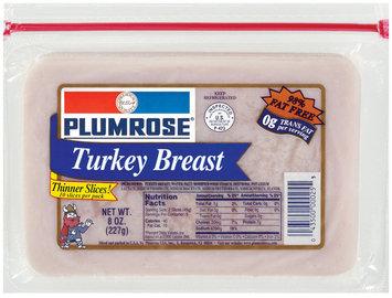 Plumrose 98% Fat Free Sliced Turkey Breast 8 Oz Zip Pak