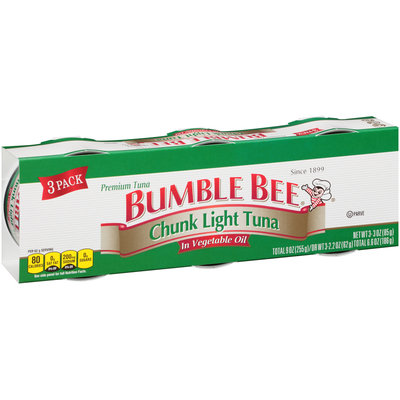 Bumble Bee® Chunk Light Tuna in Vegetable Oil 3-3 oz. Cans