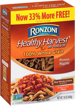 Ronzoni® Healthy Harvest® All Natural Penne Rigate Whole Wheat Pasta 16 oz. Box
