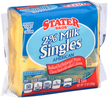 Stater Bros.® 2% Milk American Cheese Singles 12 oz. Wrapper