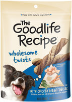 Archived The Goodlife Recipe Wholesome Twists With Chicken & Vegetables Dog Care & Treats 7.6 Oz Peg