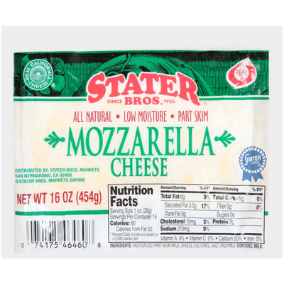 Stater Bros.® Mozzarella Cheese 16 oz. Pack