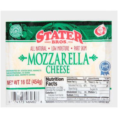 Stater Bros.® Mozzarella Cheese 16 oz. Pack