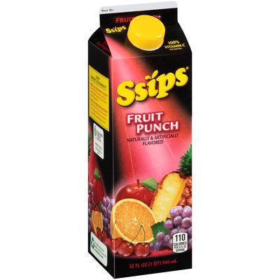 Ssips® Fruit Punch Flavored Drink 32 fl. oz. Carton
