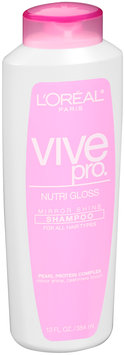 Vive Pro Nutri Gloss Shampoo for All Hair Types 13 fl. oz. Plastic Bottle