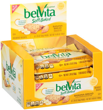 belVita Soft Baked Banana Bread Breakfast Biscuit 8-1.76 oz. Packs