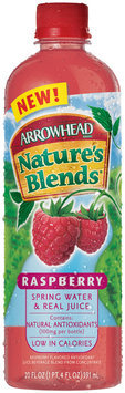 Arrowhead Nature's Blends Spring Water & Real Juice Raspberry 20 fl. oz. Plastic Bottle