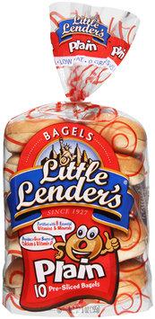 Lender's Refrigerated Plain Bagels 10 ct. 9 oz. Bag