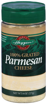 Haggen Parmesan 100% Grated Cheese 8 Oz Shaker